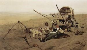 Sergei Ivanov: Kiertolaisen kuolema, 1889.