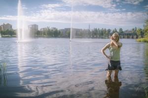 Kuva J-P. Maaninen. Vaatu Kalajoki teoksessa Vihreä ja valkoinen.