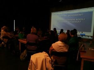 Writing Movement -seminaari Kuopiossa. Kuva Jenni Sainio.