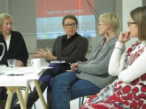 Kuvassa Heli Meklin, Leena Kela, Kaisa Kurikka ja Satu Tuittila. Kuva: Jenni Sainio.