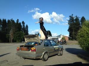 Pilluralli Pyhäjärvellä. Kuvassa: Laura Rämä. Kuvaaja: Pirjo Yli-Maunula